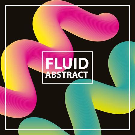 Ilustración de fluid abstract background color neon spirals vector illustration - Imagen libre de derechos