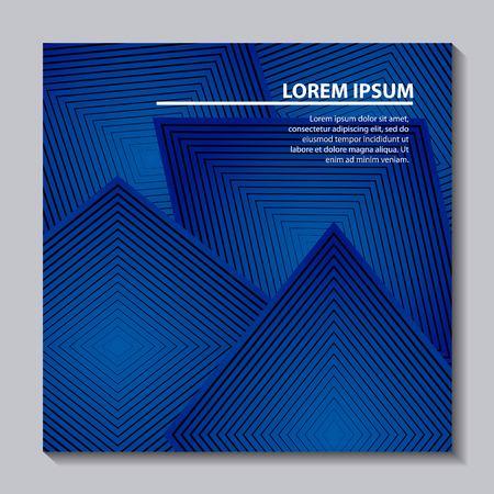 Ilustración de abstract covers background blue geometric shape frame vector illustration - Imagen libre de derechos