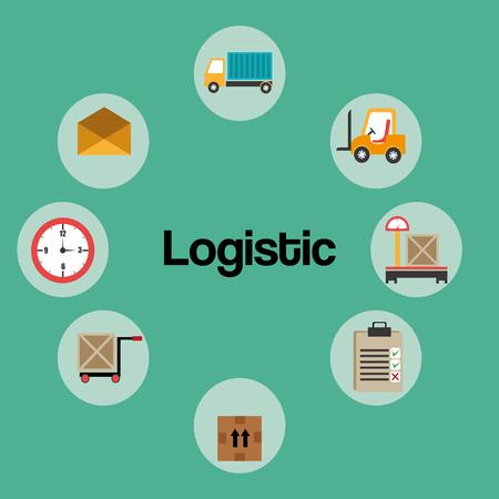 Illustration pour logistic service set icons vector illustration design - image libre de droit