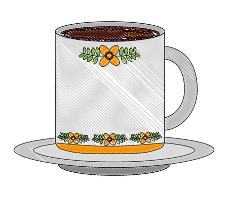 Illustration for delicious coffee cup isolated icon vector illustration design - Royalty Free Image