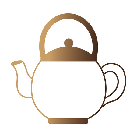 Illustration pour coffee teapot isolated icon vector illustration design - image libre de droit