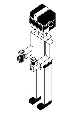 Illustration pour futuristic man isometric avatar vector illustration design - image libre de droit