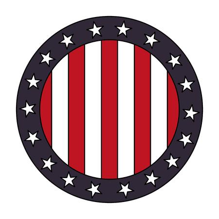 Illustration for united states of america seal stamp vector illustration design - Royalty Free Image