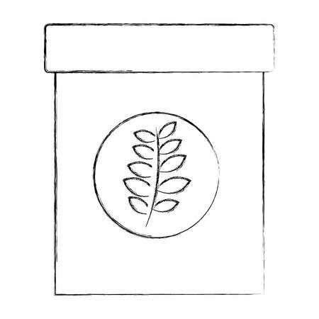 Ilustración de natural herbal fresh tea bag vector illustration sketch - Imagen libre de derechos