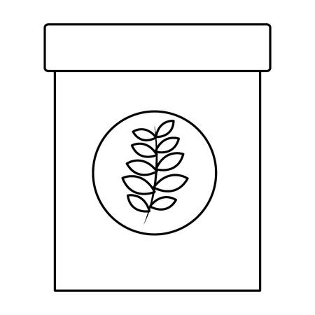 Ilustración de natural herbal fresh tea bag vector illustration outline - Imagen libre de derechos