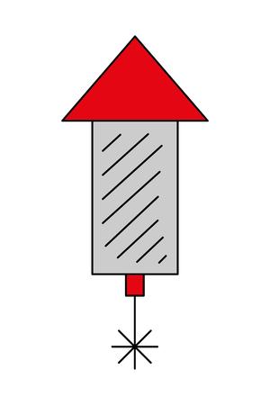 Illustration for rocket fireworks celebration party image vector illustration - Royalty Free Image