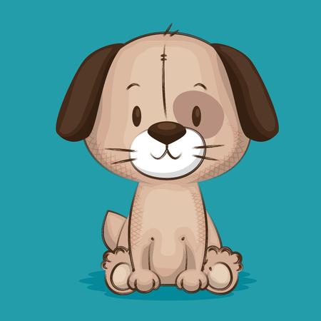 Illustrazione per little cute dog character vector illustration design - Immagini Royalty Free