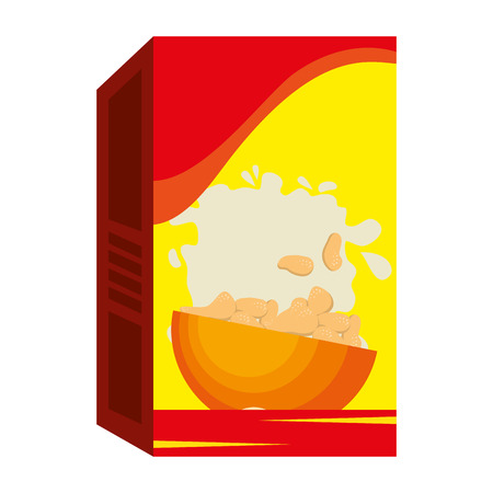 Illustration for cereal box packing icon vector illustration design - Royalty Free Image