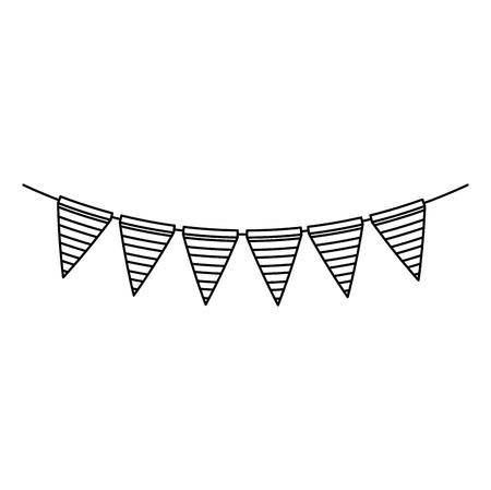 Illustration for garlands hanging party decoration vector illustration design - Royalty Free Image
