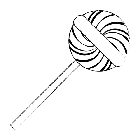Illustration for sweet lollipop isolated icon vector illustration design - Royalty Free Image