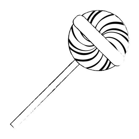 Illustration pour sweet lollipop isolated icon vector illustration design - image libre de droit