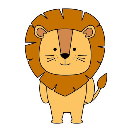 Illustration pour cute lion character icon vector illustration design - image libre de droit