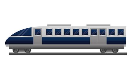 Illustration pour travel in train wagon transport vector illustration - image libre de droit