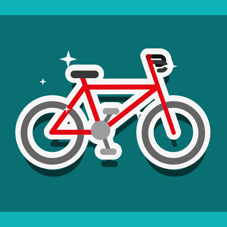 Ilustración de bike sport cardio exercise healthy vector illustration - Imagen libre de derechos