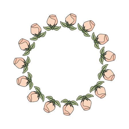 Illustration pour crown with rose beautiful flower icon vector illustration design - image libre de droit