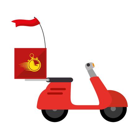 Ilustración de delivery service motorcycle icon vector illustration design - Imagen libre de derechos