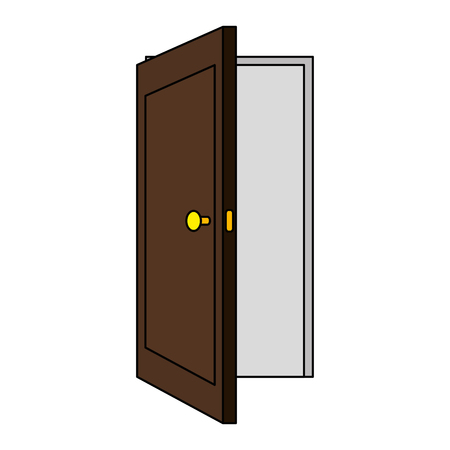 Illustration for door open isolated icon vector illustration design - Royalty Free Image
