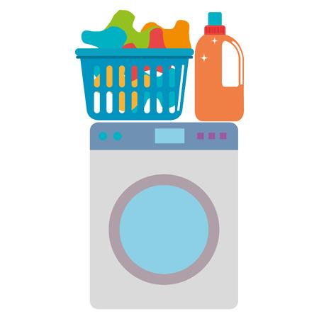 Illustration pour wash machine laundry service vector illustration design - image libre de droit