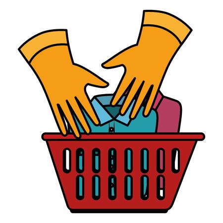 Ilustración de laundry service basket equipment vector illustration design - Imagen libre de derechos