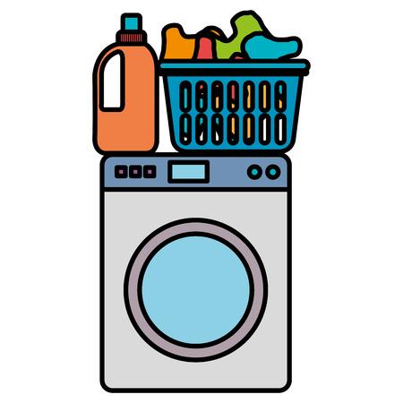 Illustration for wash machine laundry service vector illustration design - Royalty Free Image