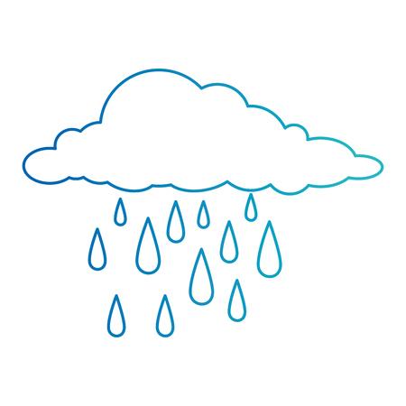 Illustration pour clouds rain weather icon vector illustration design - image libre de droit