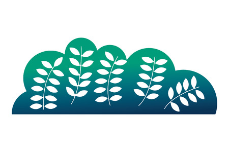 Ilustración de natural bush leaves branches botanical vector illustration neon design - Imagen libre de derechos