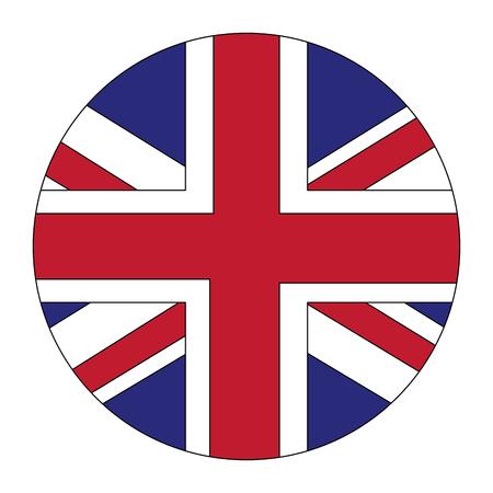 Illustration pour round flag british national button vector illustration - image libre de droit