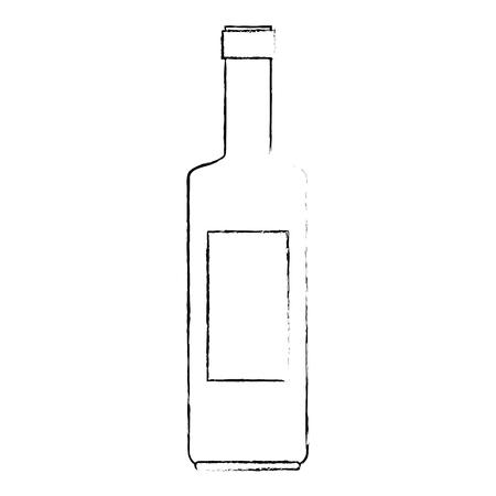 Ilustración de wine bottle silhouette icon vector illustration design - Imagen libre de derechos