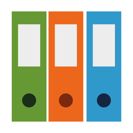 Ilustración de office files organiser icon vector illustration design - Imagen libre de derechos