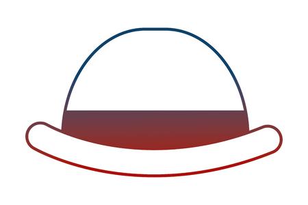 Ilustración de english bowler hat elegant accessory vector illustration neon - Imagen libre de derechos