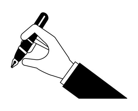 Illustration pour hand writing with pen ink vector illustration design - image libre de droit