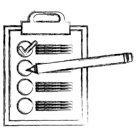 Illustration pour clipboard checklist with pencil vector illustration design - image libre de droit