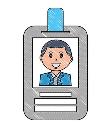 Illustration pour badge ID document isolated icon vector illustration design - image libre de droit