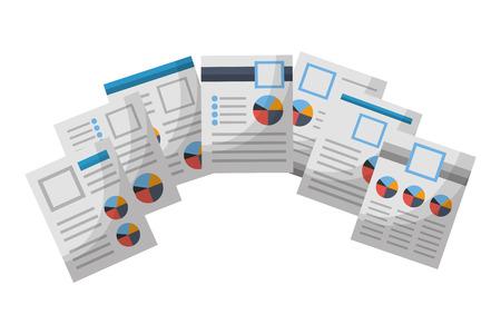 Illustration pour human resources document personal information vector illustration - image libre de droit