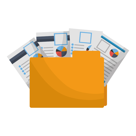Ilustración de office folder file documents paper reports vector illustration - Imagen libre de derechos