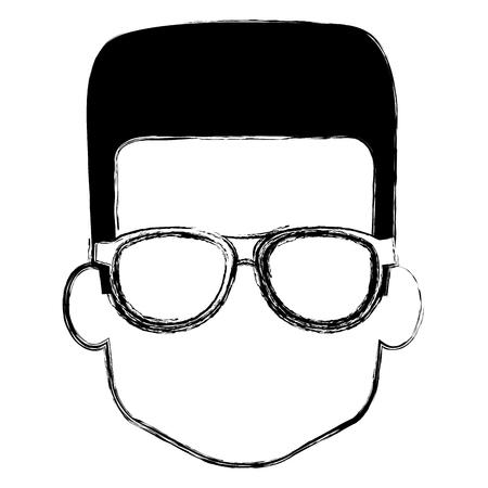 Illustration pour young boy with glasses vector illustration design - image libre de droit