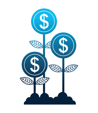 Illustration for plants money isolated icon vector illustration design - Royalty Free Image