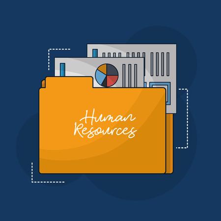 Illustration pour human resources folder resumen documents vector illustration - image libre de droit