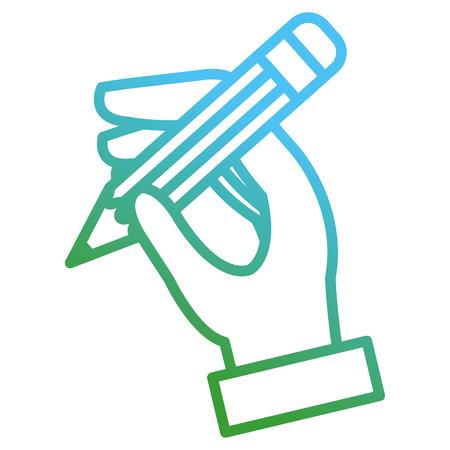 Illustration pour hand writing with pencil vector illustration design - image libre de droit