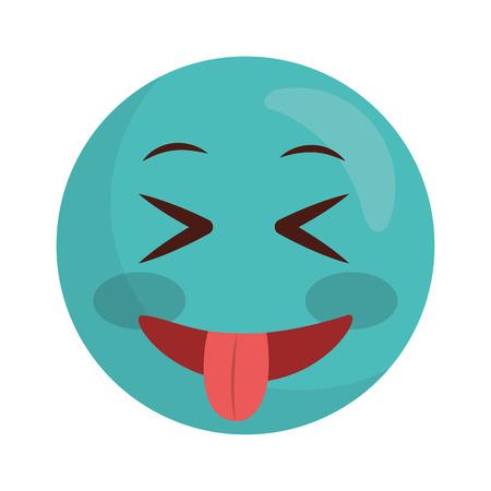 Illustration pour emoji crazy kawaii character icon vector illustration design - image libre de droit