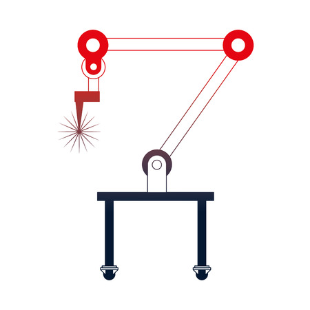 Illustration pour robotic hand machine icon vector illustration design - image libre de droit