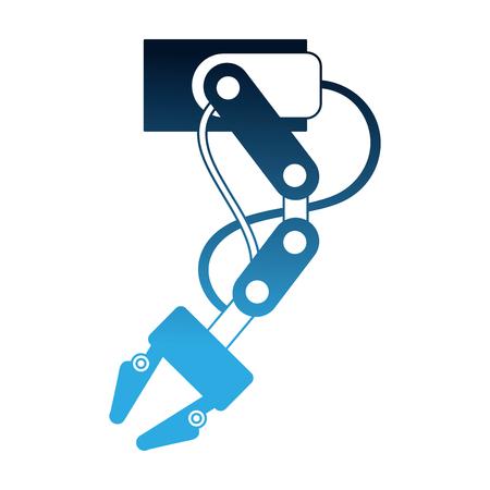 Illustration pour robotic arm automotive and electronic industry sectors vector illustration - image libre de droit