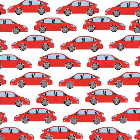 Illustration pour car sedan icon pattern vector illustration design - image libre de droit