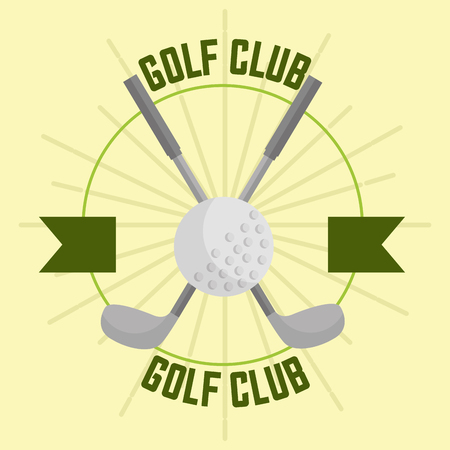 Illustration pour crossed golf club and ball sport banner vector illustration vector illustration - image libre de droit