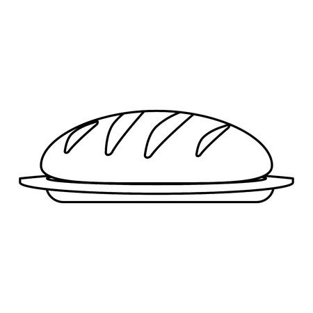 Ilustración de fresh bread isolated icon vector illustration design - Imagen libre de derechos