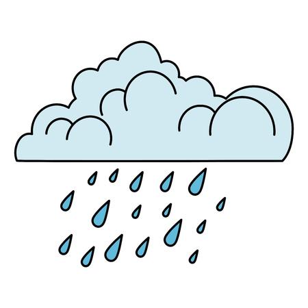Ilustración de cloud with rain drops vector illustration design - Imagen libre de derechos