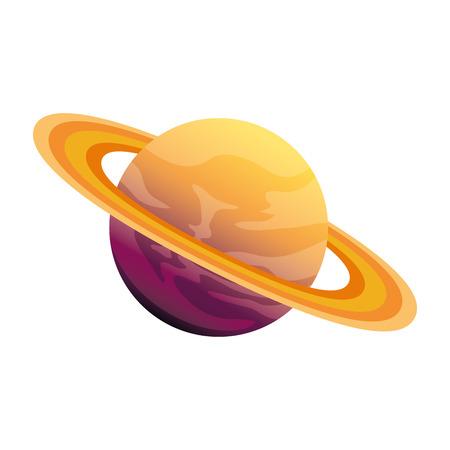 Ilustración de universe planet saturn space icon vector illustration design - Imagen libre de derechos