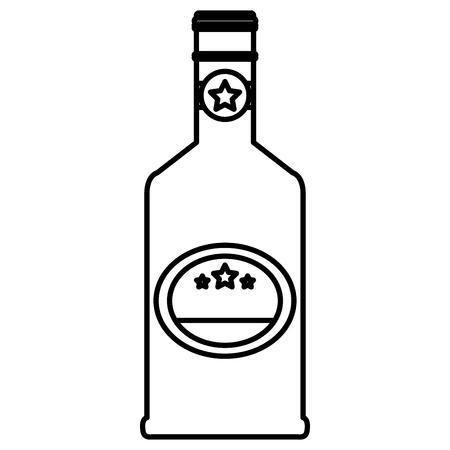 Ilustración de whiskey bottle drink icon vector illustration design - Imagen libre de derechos