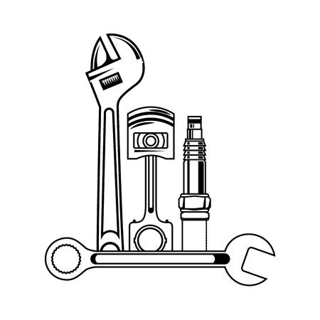 Illustration pour set mechanical tools icon vector illustration design - image libre de droit