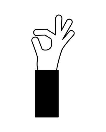 Illustration pour human hand ok gesture approved vector illustration - image libre de droit